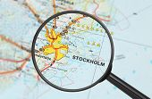 Destination - Stockholm (with Magnifying Glass) poster