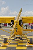 Piper Yellow Cub Airplane Front View