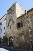 Tower of the Magistrate. Tarquinia. Lazio. Italy.