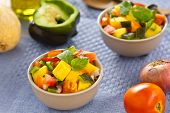 Mango and tomato salsa