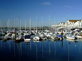 Yachts Moored At Ocean Village, Southampton