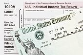 American Tax Form And  Refund Check