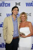 LOS ANGELES - JUL 23: Nicholas Braun, mother Elizabeth Lyle at the premiere of