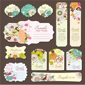 gift tags/greeting cards design with floral theme