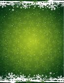 Green Grunge Christmas Background