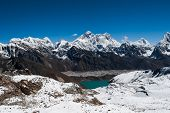 Famous Peaks From Renjo Pass: Everest, Makalu, Lhotse, Nuptse, Pumori