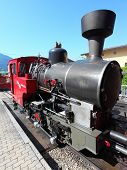 ST. WOLFGANG, AUSTRIA - JULY 8:The steam locomotive of a vintage cogwheel railway at Schafberg Peak