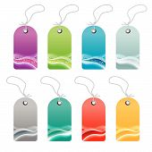 Waved Lined Art Retail Tags