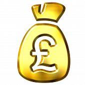 Sack Full Of British Pounds