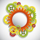 Machine Gear Wheel Vector.Eps10 .Image contain transparency and various blending modes