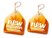 New autumn collection labels.