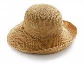 wide brim ladies raffia summer straw hat