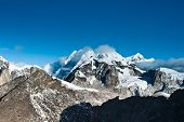 Mountain Summits Scene Viewed From Gokyo Ri Peak