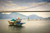 Han River in Da Nang, Vietnam.