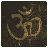 stock photo of ganpati  - Om grunge symbol - JPG