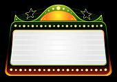 stock photo of matinee  - Blank blockbuster in green and gold colors - JPG
