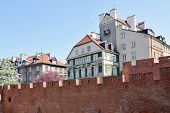 The Barbican, medieval fortification in the old town of Warsaw, Poland