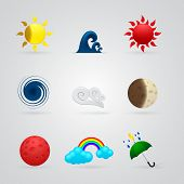 Set Of Color Weather Icons