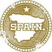 Vintage Distressed Spain Stamp
