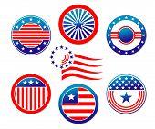 Постер, плакат: Американские национальные знамена и символы