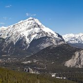 Cascade Mountain And Banff Springs Hotel