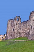 image of chepstow  - A view of the ruins of Chepstow Castle located in Chepstow - JPG