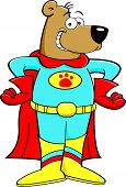 Cartoon superhero bear