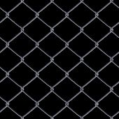 stock photo of chain link fence  - A 3D chain link fence texture over black  - JPG