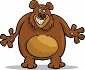 Brown Bear Cartoon Illustration