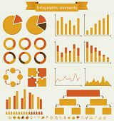 Retro Set Of Infographic Elements.