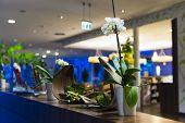 flower decoration at hotel reception