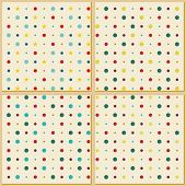 Vintage polka dot texture background
