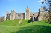 Framlingham castle with grass