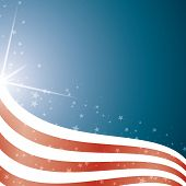 American Flag, Vector background stripes and stars