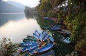 colourful boat at pokhara