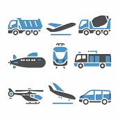 stock photo of dumper  - Transport Icons  - JPG