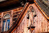 Traditional Polish Wooden Hut From Zakopane, Poland.