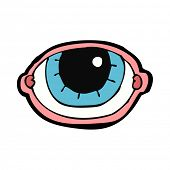 cartoon staring eye