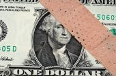 image of american money  - American money with an adhesive banage  - JPG