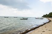 Fishing boats on shore; Koh Pha Ngan; Thailand