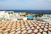 View On Swimming Pool And Beach At Luxury Hotel, Sharm El Sheikh, Egypt