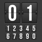 stock photo of numbers counting  - Countdown timer - JPG