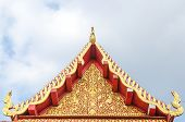 Tympanum Of Thai Roof Temple