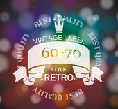 Vector  Retro Label With  Ribbon And Crown.