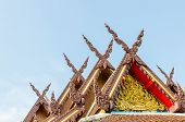 Wood Gable Roof On Thai Temple