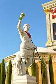 Sculpture  In Caesar's Palace   In Las Vegas