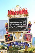 Harrah's Hotel And Casino Sign  In Las Vegas