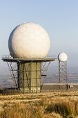 Titterstone Clee Hill, National Air Traffic Services Radar Dome And Meteorolgical Dome