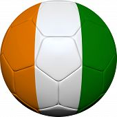 stock photo of ivory  - 3d soccer ball design with Ivory Coast - JPG
