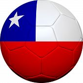 Chilean Flag With Soccer Ball